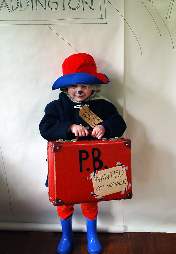 Adorable little Paddington Bear - a great last-minute costume for Halloween or Book Week. No sewing!