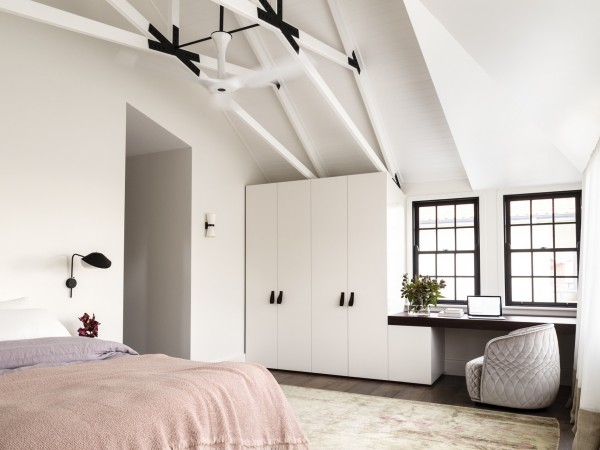 Master bedroom: the Fairlight house by Decus Interiors, winner of House and Gardens' Room of the Year 2015.