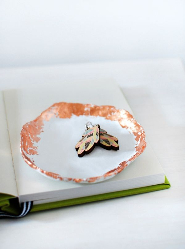 How to make a copper-trim jewellery dish by We Are Scout.