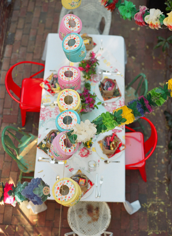Spring party. Photo by Kate Headley via 100 Layer Cakelet.