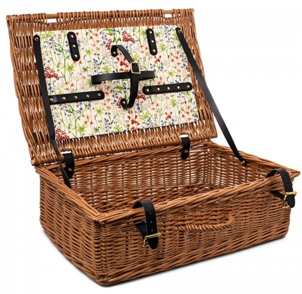 Flowers of Liberty picnic basket in in Theodora, from Liberty.