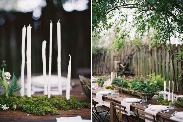 A delicate Tuscan-inspired dinner table, via Once Wed.