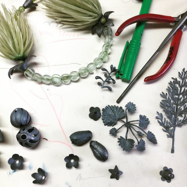 Black foliage on the work bench - behind the scenes with jeweller Melinda Young