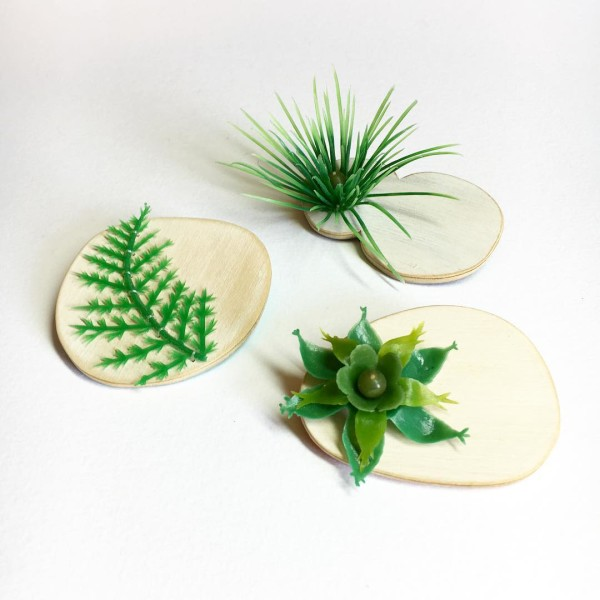 Brooches from the 'Old Growth' series by Melinda Young @craft.act.