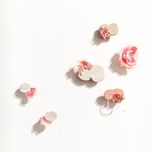 Pink Jewellery by Melinda Young for 'Grow Your Own' exhibition.