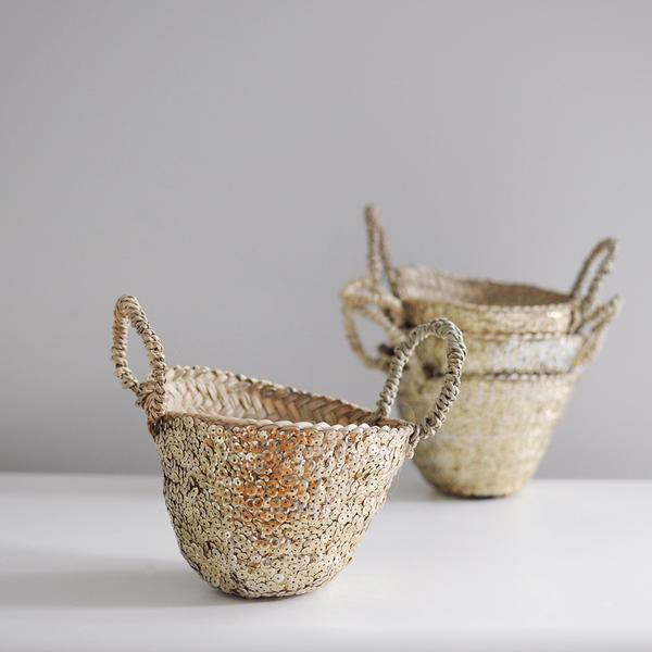 Gorgeous Gold Sequin Baskets