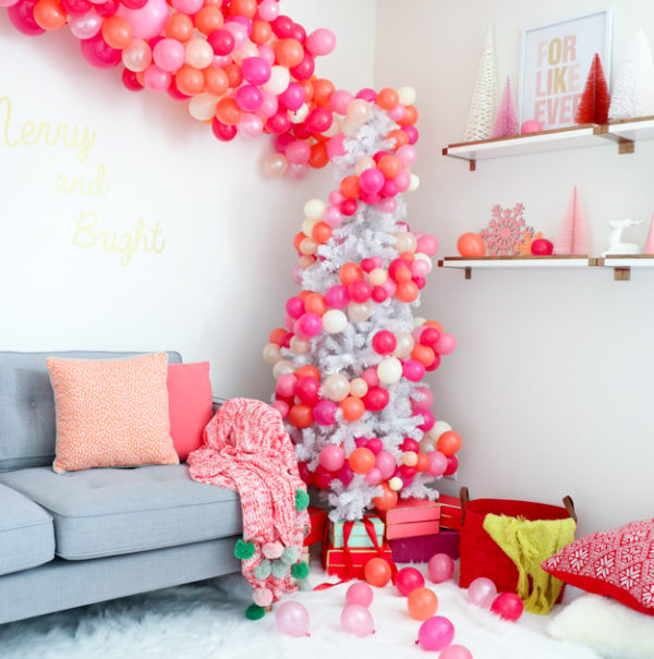 Incredible DIY balloon-festooned tree by A Kailo Chic Life.