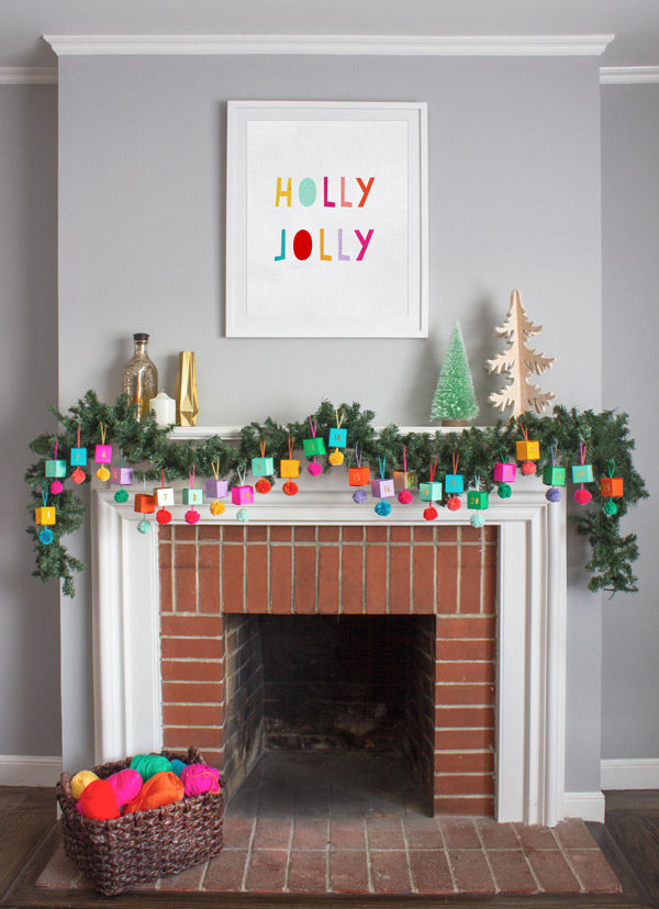Image via Oh Happy Day. http://ohhappyday.com/2015/11/diy-paper-ornament-advent-calendar/