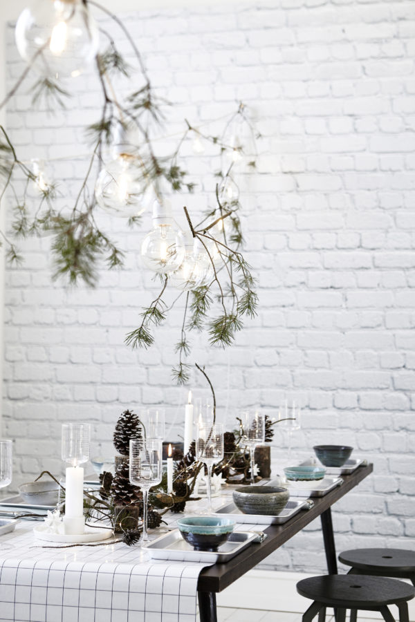 A Nordic Christmas table setting by House Doctor.