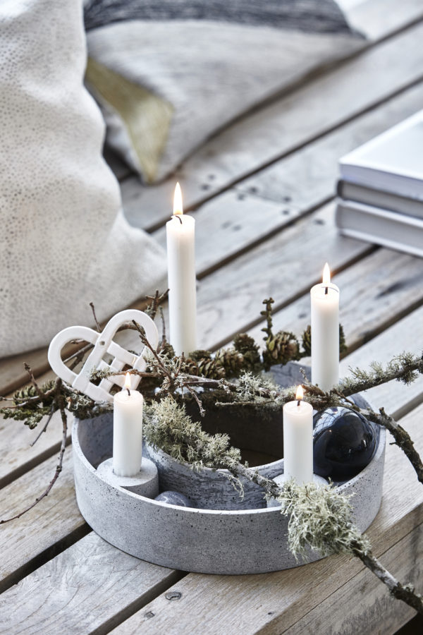 A Nordic-style candle setting by House Doctor Denmark.