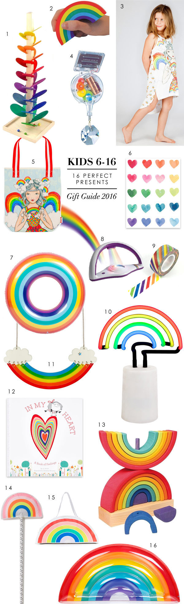 Wee Birdy's ultimate rainbow present gift guide for kids of all ages.