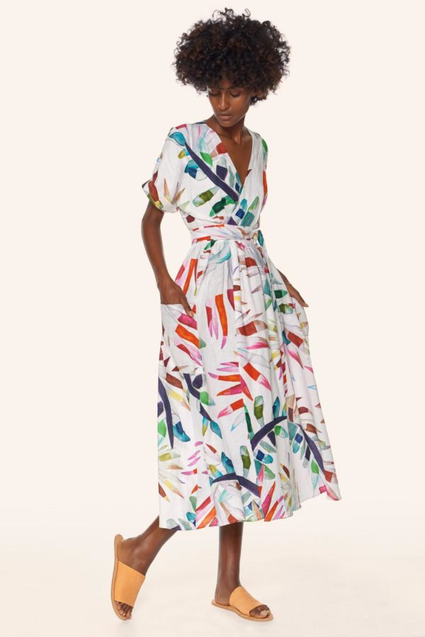 Beautiful! Print wrap-dress by Mara Hoffman for spring 2017.