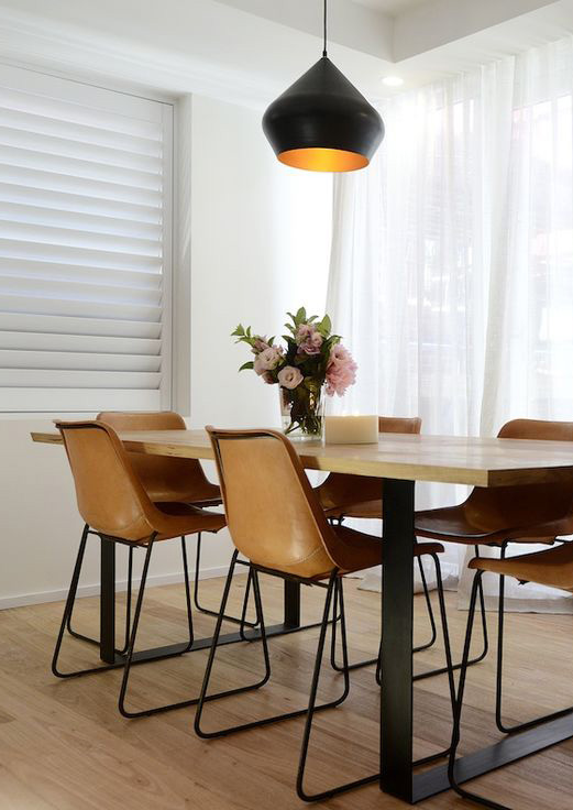 Wee Birdy The Insider S Guide To Ping Design Interiors Orange Dining Chairs Room Modern With Built In Banquette Tan Leather Chair Casual
